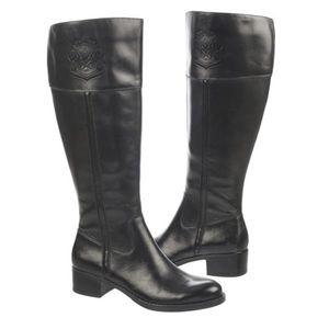Franco Sarto Black Leather Riding Boots